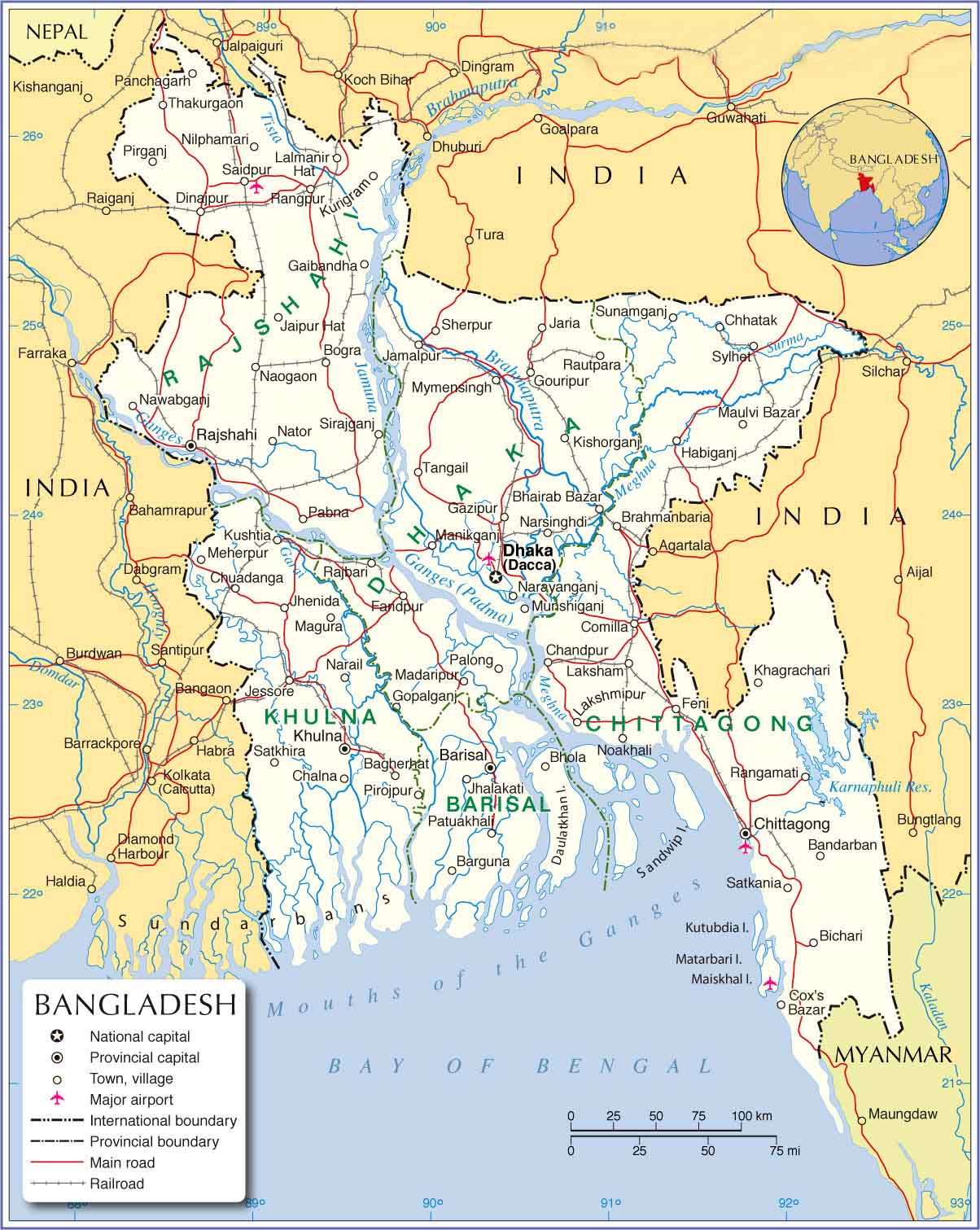 Bangladesh Map Whole Country Map With Details ShopnoBaz - Map of bangladesh