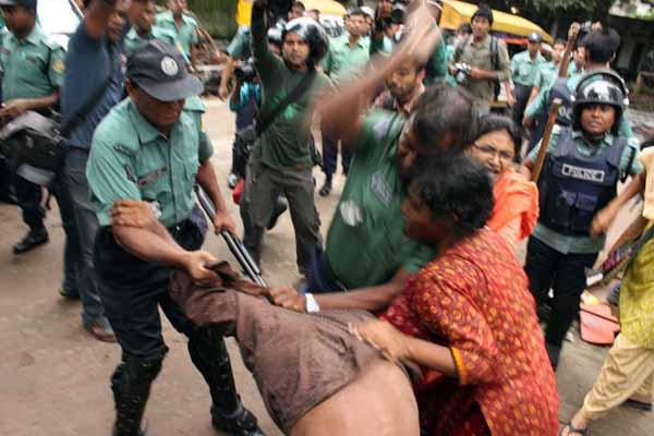 Police torture during hartal