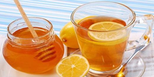lemon honey with warm water